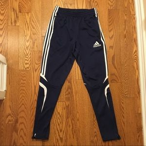 Adidas navy blue track pants